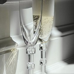 Clair de Lune champagne flute set of two